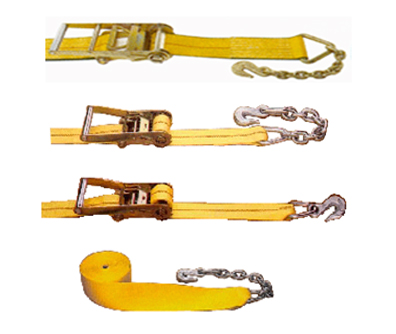 "2"" Cargo Tie Down Strap with Chain Anchor Assembly"