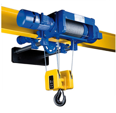 Low headroom wire rope hoist