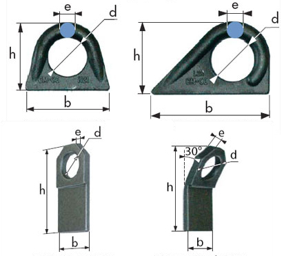 weld-on lifting ring and plate